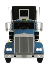 Semi Truck Front Isolated