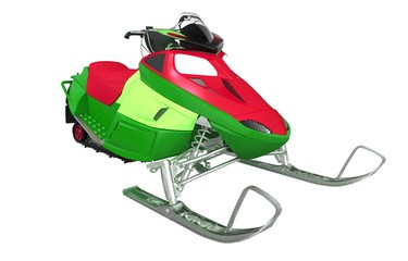 Colorful Snowmobile Machine