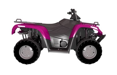 Pink ATV Bike Side View