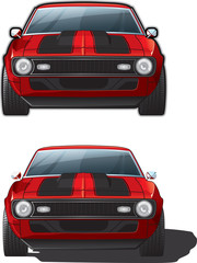 Vector Muscle Car Illustration