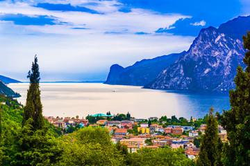riva del garda.  Mountain lake Lago di Garda