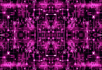 Purple Circuit Board Pattern