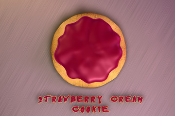 Strawberry Cream Cookie