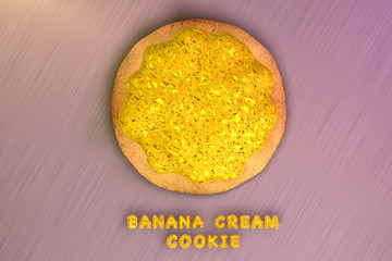 Banana Cream Cookie