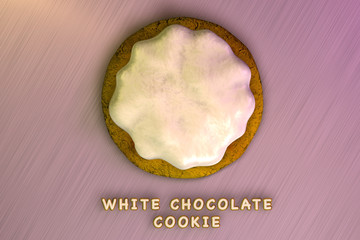 White Chocolate Cream Cookie