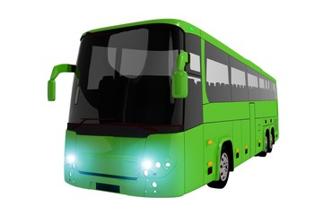Green Coach Bus