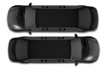 Black Limos Top View