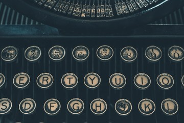 Retro Typewriter Closeup