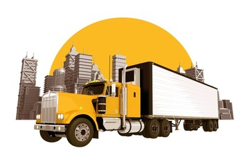 Trucking Industry Skyline