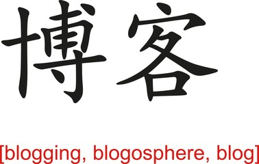 Chinese Sign for blogging, blogosphere, blog