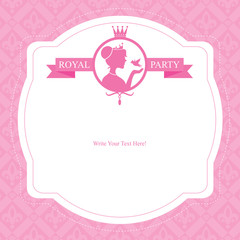 Birthday Princess Party Card