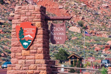 Zion Entrance Sign