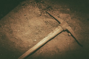 Pickaxe on the Ground