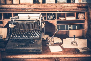 Old Desk Vintage Typewriter