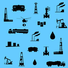 Oil and petroleum icon. Seamless.