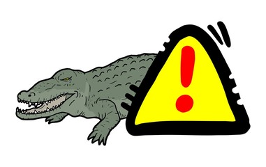 Danger crocodile