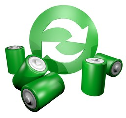 Icon recycle battery