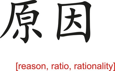 Chinese Sign for reason, ratio, rationality