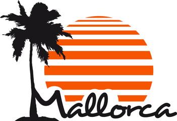 Mallorca Palme Insel Sonne Logo