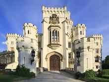Beautiful Hluboka Castle in Czech Republic.