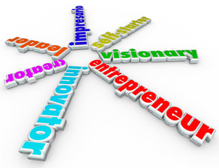 Entrepreneur 3d Words Business Person Start Company Venture