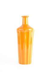 orange vase isolated on white