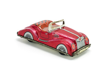 Car tin toy vintage stye