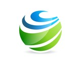 Fototapety globe finance success,abstract logo business,global work people