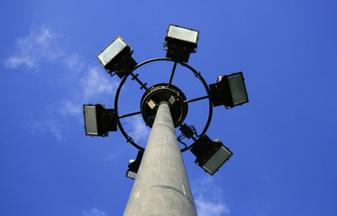 Powerful lighting equipment for city streets