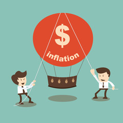 Businessman stabilize inflation