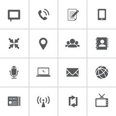 communication icons, vector eps10