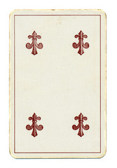 ancient palying card of clubs
