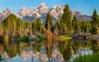 canvas print picture - Grand Teton National Park