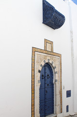 Colored door in Sidi Bou Said,Tunisia