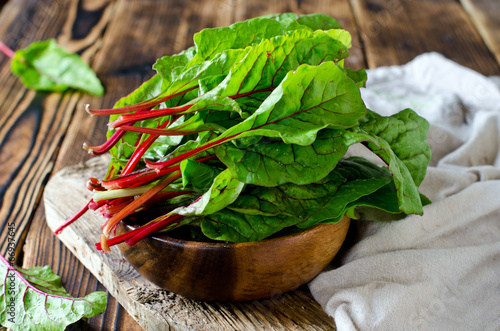 Chard leaves in a bowl - 66937645