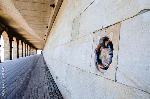 Leinwanddruck Bild Weserpromenade