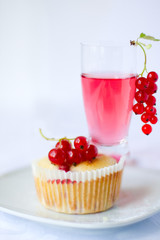 Red currant muffin