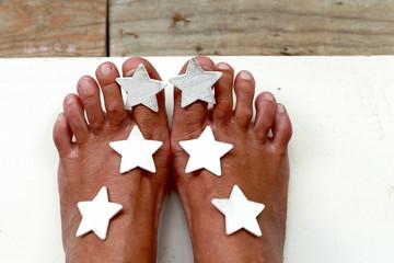 Feet and stars