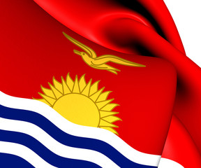 Flag of Kiribati. Close Up.