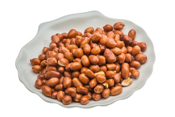 Fried peanuts heap