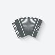 accordion music design element - 66938624