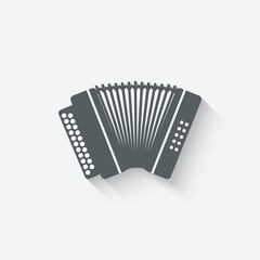accordion music design element