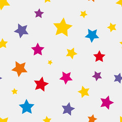 Seamless background with colored stars