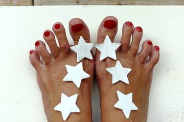 Stars in foot