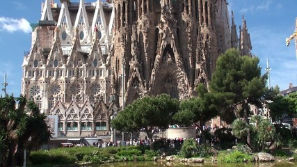 Types of Sagrada Familia church. Nativity facade.