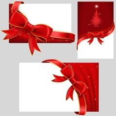 Christmas Cards With Red Bows