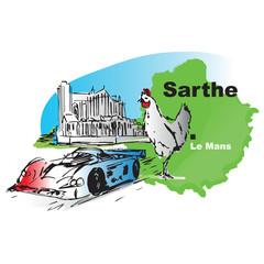 Sarthe Le Mans 24 heures poulet Loue cathedrale Saint julien 4