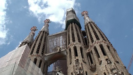 Types of Sagrada Familia church. Passion facade