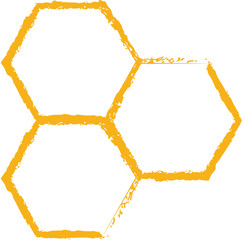 bee comb icon vector