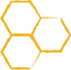 bee comb icon vector